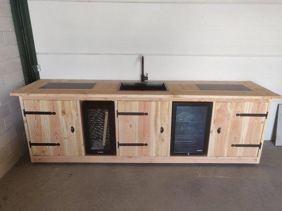 Buitenkeuken - Sydney - Koelkast 68 liter - Wijnkoeling 50 liter - Douglas hout