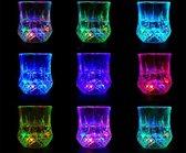 Lichtgevende LED Beker - Beker voor waterglas wijnglas -  Glow-beker Licht op knipperende neon-beker