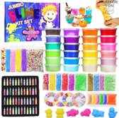 JustForYou2 Slijm pakket – DIY Kit Slijm maken – Glow in the dark – 108 stuks – Speelgoed voor kinderen