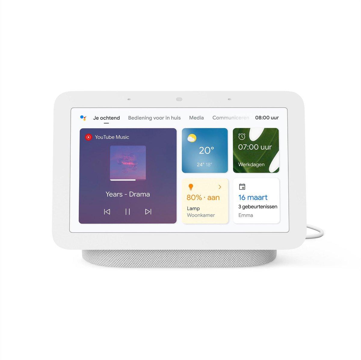 Google Nest Hub (2e generatie) - Chalk