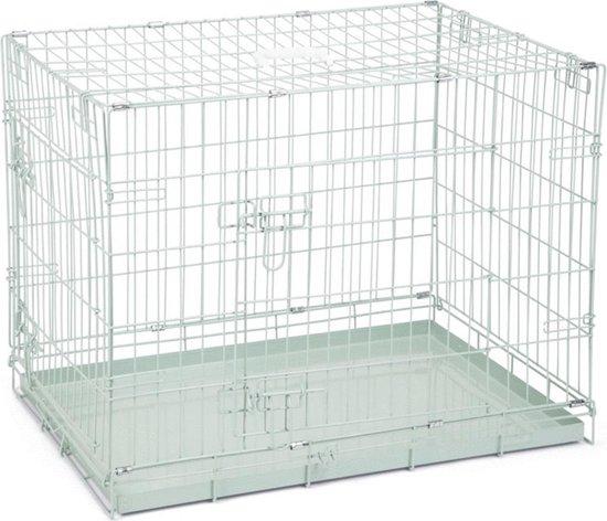 Beeztees - Hondenbench - 2 Deurs - Groen - 78x55x61 cm