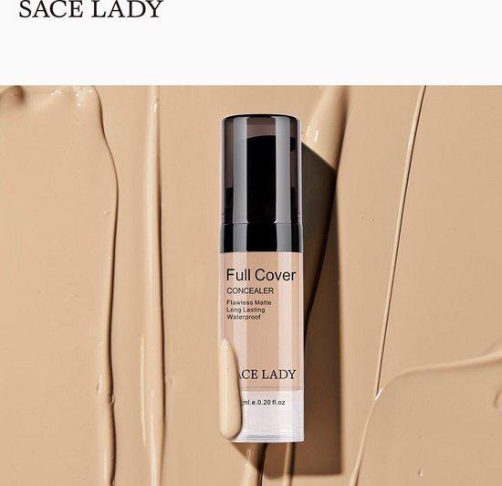 Make up Concealer Dekking Crème-Volledige Cover Vloeibare-make up- Coverall-04 Naturelle