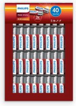 Philips Power Alkaline Batterijen AA 40-pack