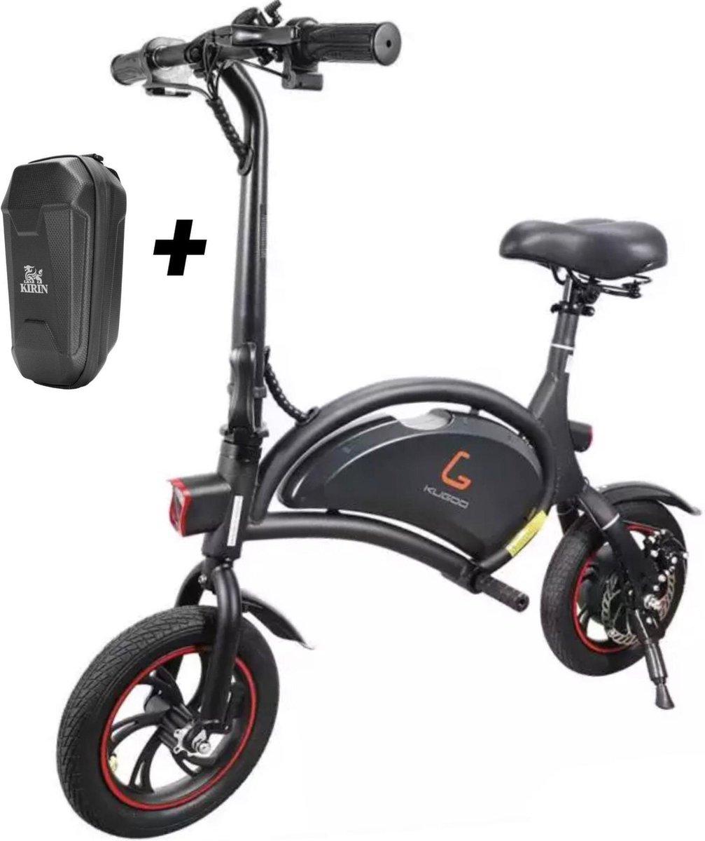 Matrix E Bike B1- Mini-scooter Elektrische vouwfiets - Zwart - 25 km per uur - APP IOS Android - Inc