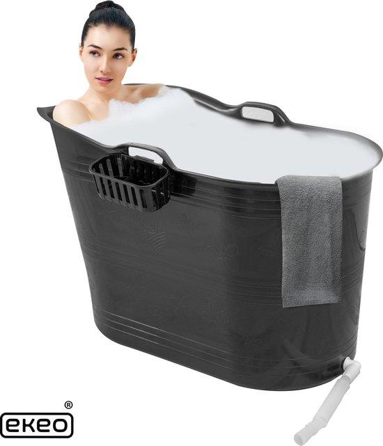 EKEO Zitbad - 250L - Mobiele badkuip - Bath Bucket - Zwart