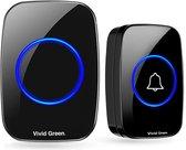 Draadloze Deurbel - Bel - Draadloos met Ontvanger - Doorbell - Wireless Doorbell - Deurbellen - IP44 Waterdicht - Zwart