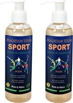 Magnesium Serum - Gel+MSM - van Himalaya Magnesium   Set 2x 200 ml pompfles   Magnesiumchloride voor spieren