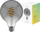 Hombli Smart Filament Bulb E27 G95 – Smokey - Globe – Warm wit licht