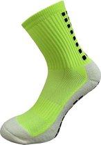 Gripsokken voetbal neon geel - sportsokken - grip - one size - anti blaren - compressie - prestatieverhogend - tennis - hardlopen - handbal - sporten - fitness