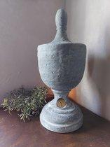 Brynxz - Goblet Classic - Pot met deksel - Bloempot - Industrial Vintage - Ø17cm - Hoogte 38cm