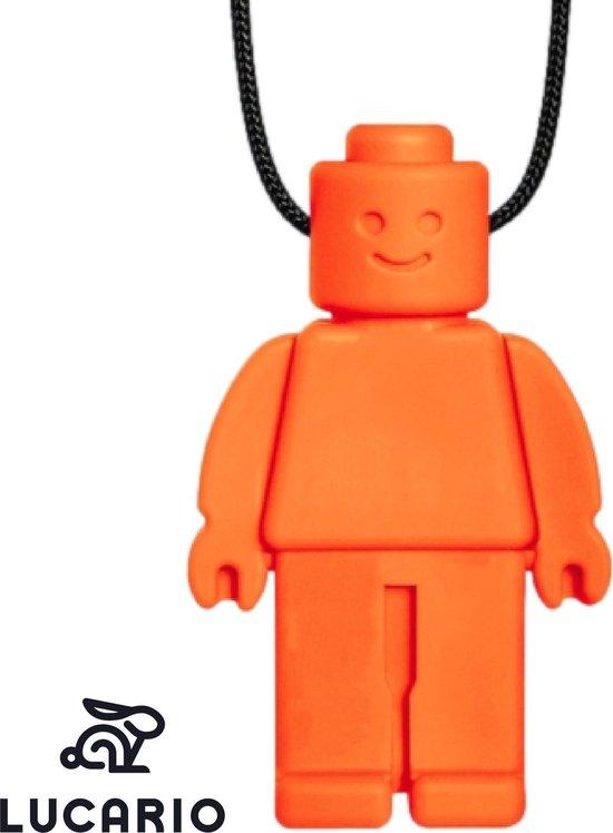 Bijtketting - Kauwketting | Lego design Robot Alex - Oranje