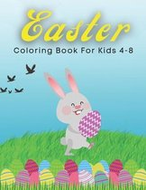 Easter Coloring Book For Kids 4-8