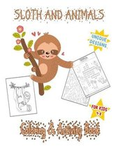 Sloth and animals Coloring & activity book