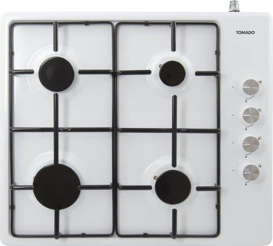 Tomado TGH6001W - vrijstaande gaskookplaat - 4 branders - wit
