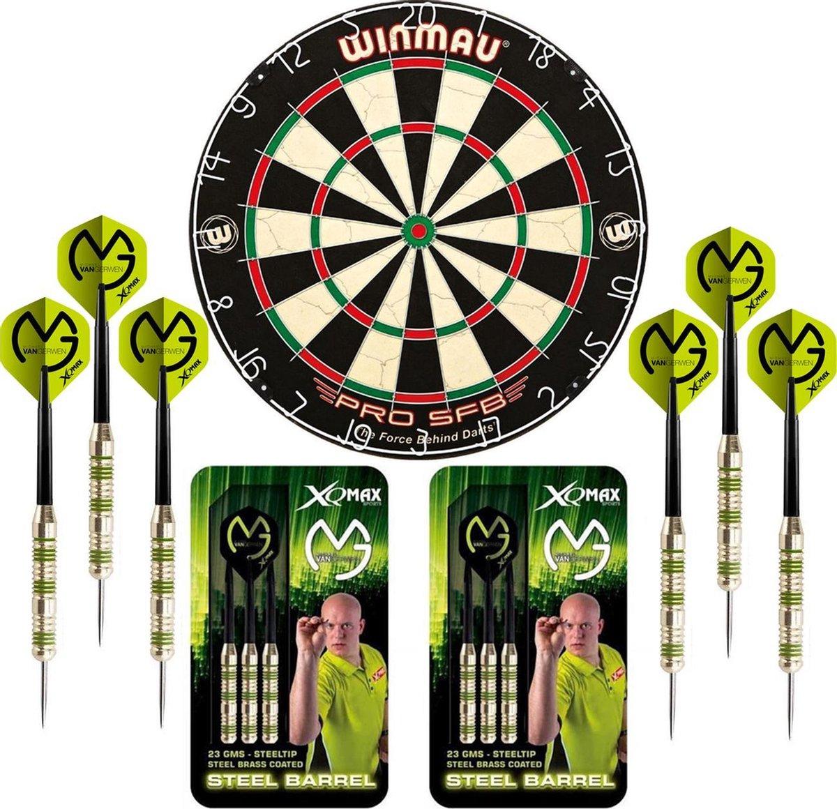 Dragon Darts Michael van Gerwen Octane set - dartbord - 2 sets - dartpijlen - dart shafts - dart flights - Winmau PRO SFB