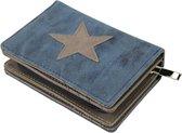 Dames Portemonee – Mini Wallet – Compacte Portemonnee - Kunst Leer – Kaart Houder – Blauw K601