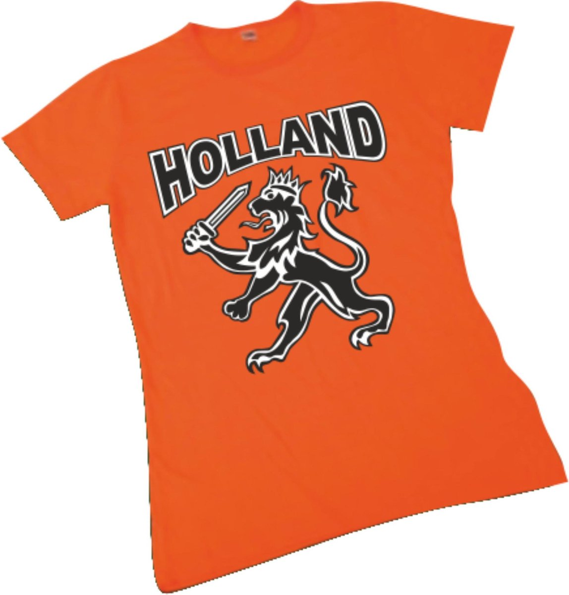Dames T-shirt oranje Holland met leeuw | EK Voetbal 2020 2021 | Nederlands elftal shirt | Nederland