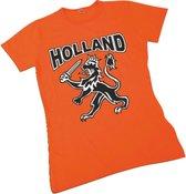 Dames T-shirt oranje Holland met leeuw   EK Voetbal 2020 2021   Nederlands elftal shirt   Nederland supporter   Holland souvenir   Maat M