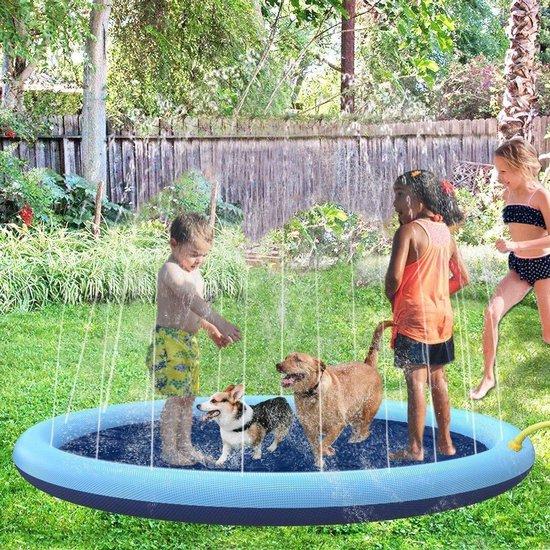 Hondenzwembad - Kinder zwembad - Hondenspeelgoed - Opvouwbaar - Dog Pool - Hondenbad - Waterspeelgoed - Baby Zwembad - 150cm - Inclusief Watersproeiers