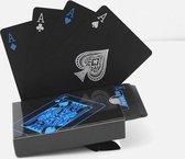 Luxe Speelkaarten Waterdicht - Poker Kaarten Waterdicht - Waterdicht Speelkaarten - Blauw / Zwart