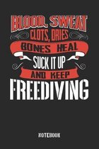 Blood Sweat clots dries. Shut up and keep Freediving