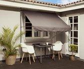 Klem-Zonwering balkon en terras van WDMT™ - 200 x 210/300 cm | Eenvoudig te plaatsen zonnescherm | Verstelbaar zonnescherm balkon zonder boren | UV-werend | Antraciet