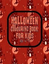 Halloween Colouring Book For Kids Age 4 - 8