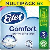 EDET Comfort Xtra Long 3-laags wc papier 24 = 48 rollen