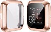 YPCd® FitBit Versa 2 Siliconen Case - Rosé Goud - 360 bescherming