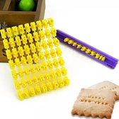 Letters & Cijfers Stempels / Alfabet Koekjes Stempel Set