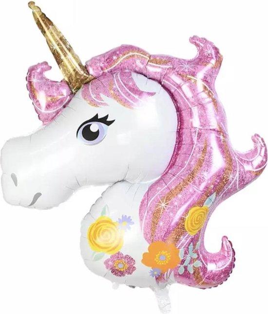 Folieballon Unicorn XL  Eenhoorn roze