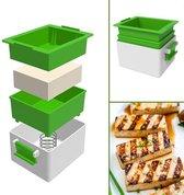 Tofupers - 3-delige Tofu pers - Vegan Tofu press – Vegetarisch keukengerei – Vegan – Vega – Vegetariër