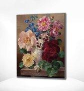 Painting Expert® Schilderen op nummer Volwassenen - Schilderen op nummer Kinderen - Portret Bloemen - 40x50cm - Exclusief Lijst (24 kleurtjes)