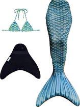 Marine Blue zeemeerminstaart maat 134-140 (8) met bikini top en monovin