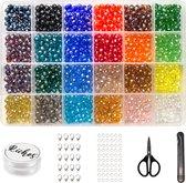Riches® Kristallen Kralenset – Kristal – Hobby Kit voor Sieraden Maken – 6mm – Kit Voor Sieraden Maken – Hobby – Volwassenen & Kinderen & Meisjes – Kralen – Bedels -Kralendoos - Sieradendoos