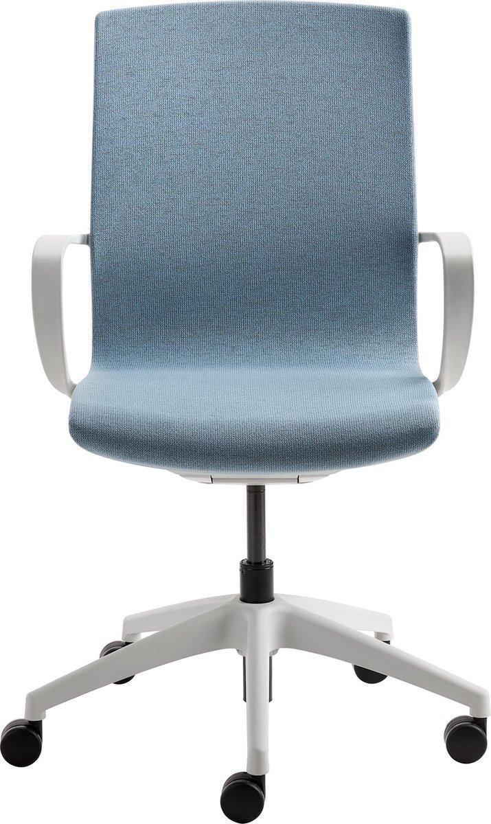 Nancy's Braidwood Bureaustoel - Draaistoel - Hoogte Verstelbaar - Zit- En Rugmechanisme - Kunststof - Blauw - Grijs - Zwart - 50 x 46 x 96 cm