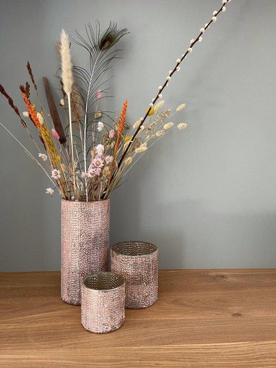 Bol Com Decoratie Vaas Shine Pink Set Van 3 Vazen