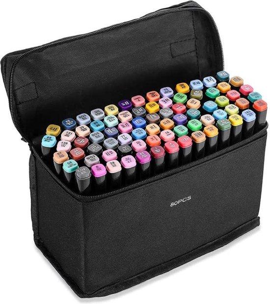 Stiften - Twinmarkers - Dual-Tip markers - Markeerstiften Alcohol - 80 stuks