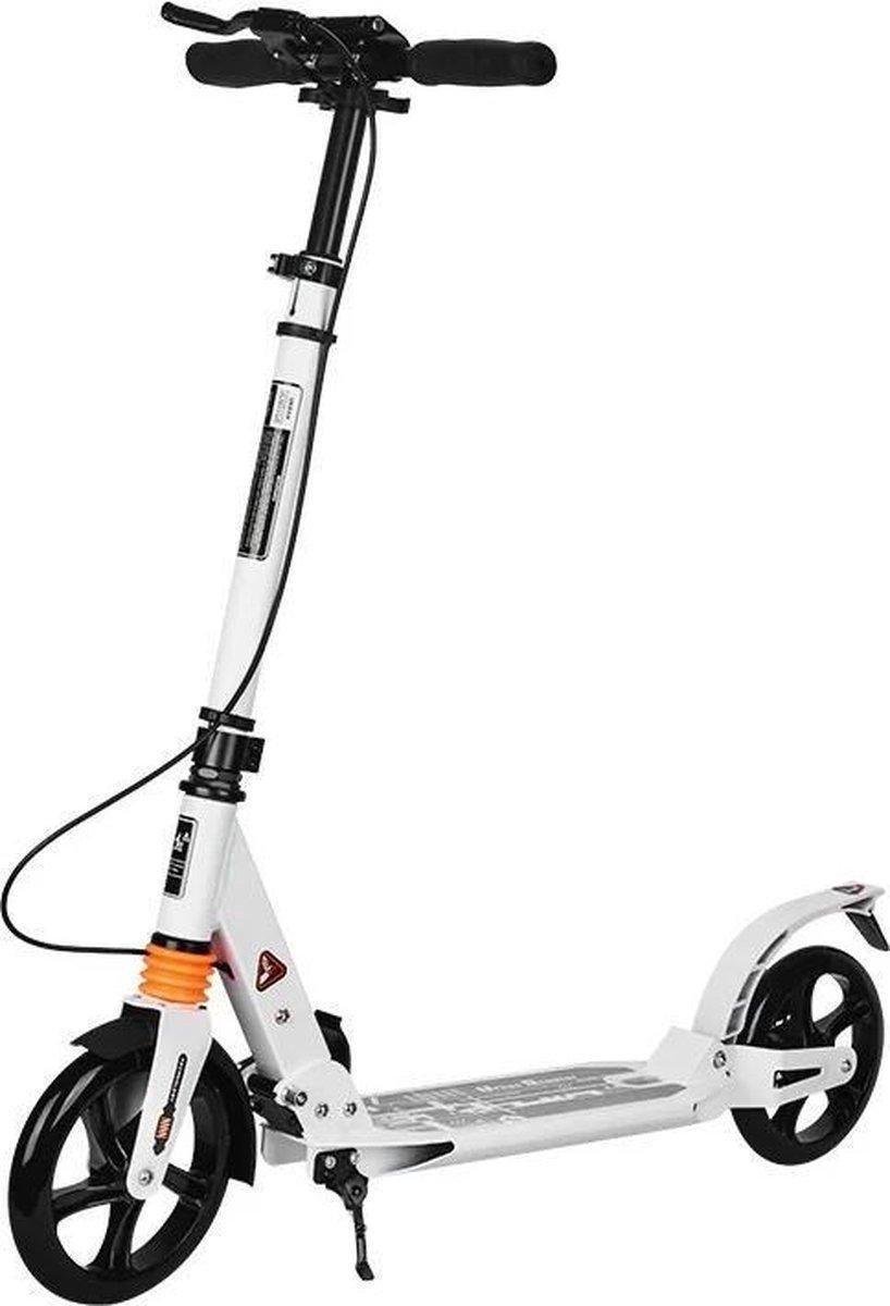 SUOTU R9 Step (Niet elektrisch) -Step Volwassenen Opvouwbaar - Vering - Wit - 100kg - Autoped Grote Wielen