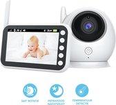 Babyfoon Met Camera | Beeldbabyfoon | LCD Scherm | 360 Graden | Meeluisteren | Praten | Nachtzicht | Temperatuur | Slaapliedjes