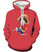 One Piece Hoodie - Luffy - Maat M