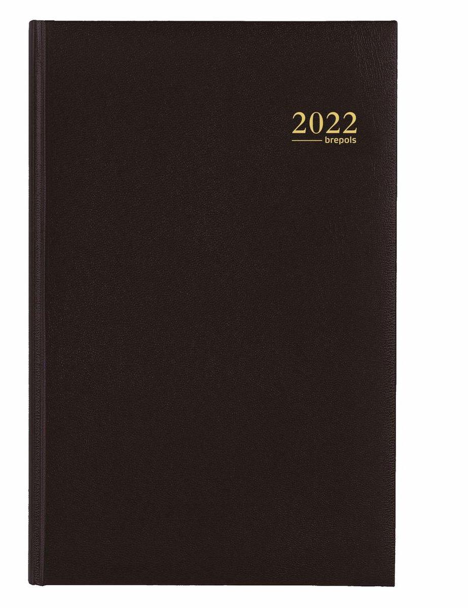 Brepols Agenda 2022 - Saturnus luxe - Lima - 13,3 x 20,8 cm - Zwart