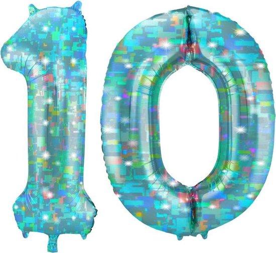 Cijfer 10 Galactic Aqua (86cm)