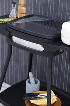 Barbecook Elektrische Barbecue - Grilloppervlak (LxB) 41x36 cm - Inclusief Zijtafel - Met Anti-kleeflaag - Zwart