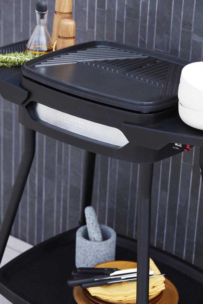 Barbecook Elektrische Barbecue - Grilloppervlak (LxB) 41x36 cm - Inclusief Zijtafel - Met Anti-kleef
