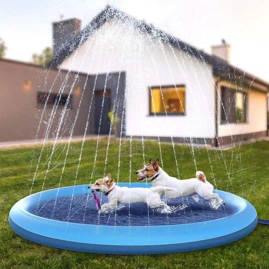 Hondenzwembad 170cm - Verkoeling hond - waterspeelgoed buiten - watersproeier speelgoed - hondenspeelgoed- afkoeling hond - afkoelen - zwembad - speelzwembad - babyzwembad - opblaasbaar - kinderzwembadje - outdoor koelmat hond - honden speelgoed