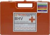 Technosafety EHBO Koffer BHV - A Basis - Oranje Koffer - Inclusief Wandhouder - Bevestigingsmateriaal