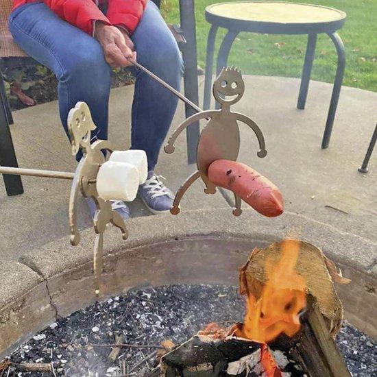 Barbecue prikker - BBQ accesoires - man en vrouw - BBQ fun