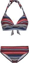 ELEONORE 19 CCUP Dames Halter Bikini - Beet Red - Maat XS/34