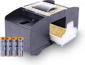 Qualux Kaartenschudmachine - Schudmachine - Kaarten - Kaartenschudder - Poker - Inclusief 4 batterijen - Zwart